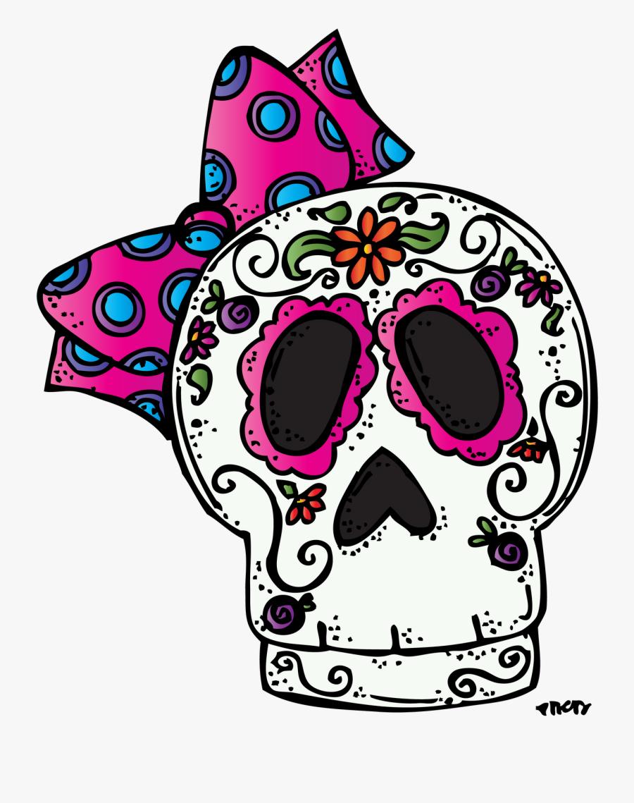 Sugar Skull Pumpkin Clipart - Dia De Los Muertos Kids Clipart, Transparent Clipart