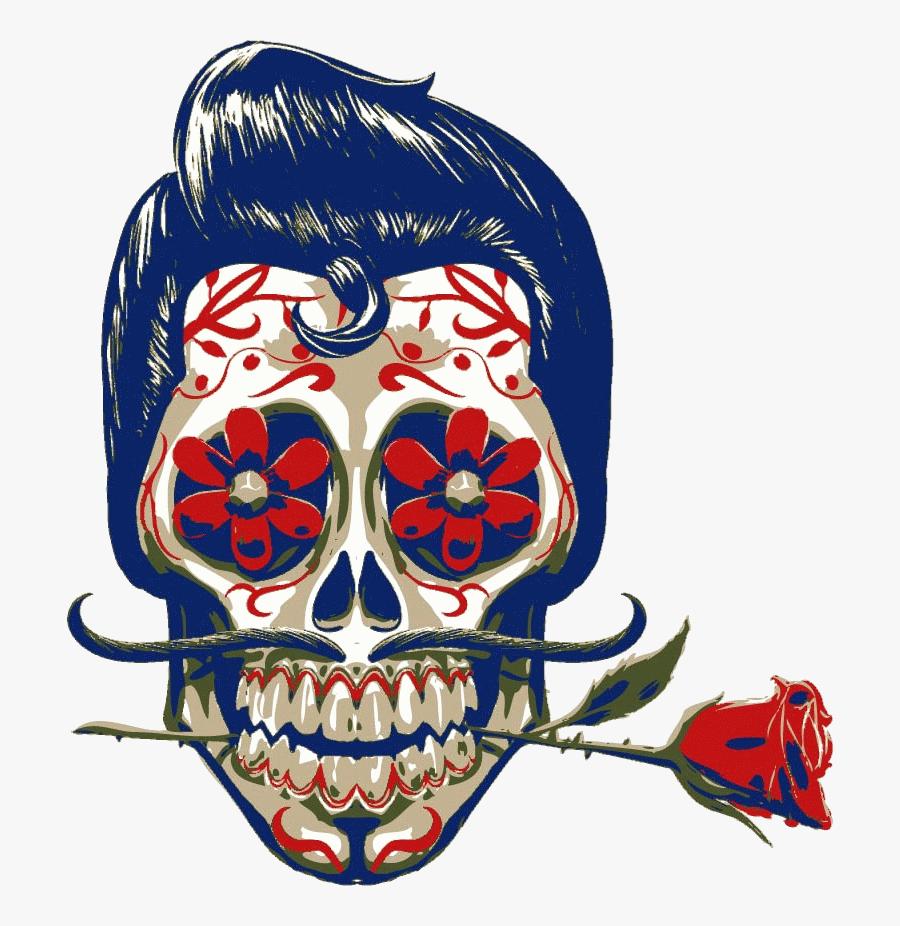Mexican Art Skull, Transparent Clipart