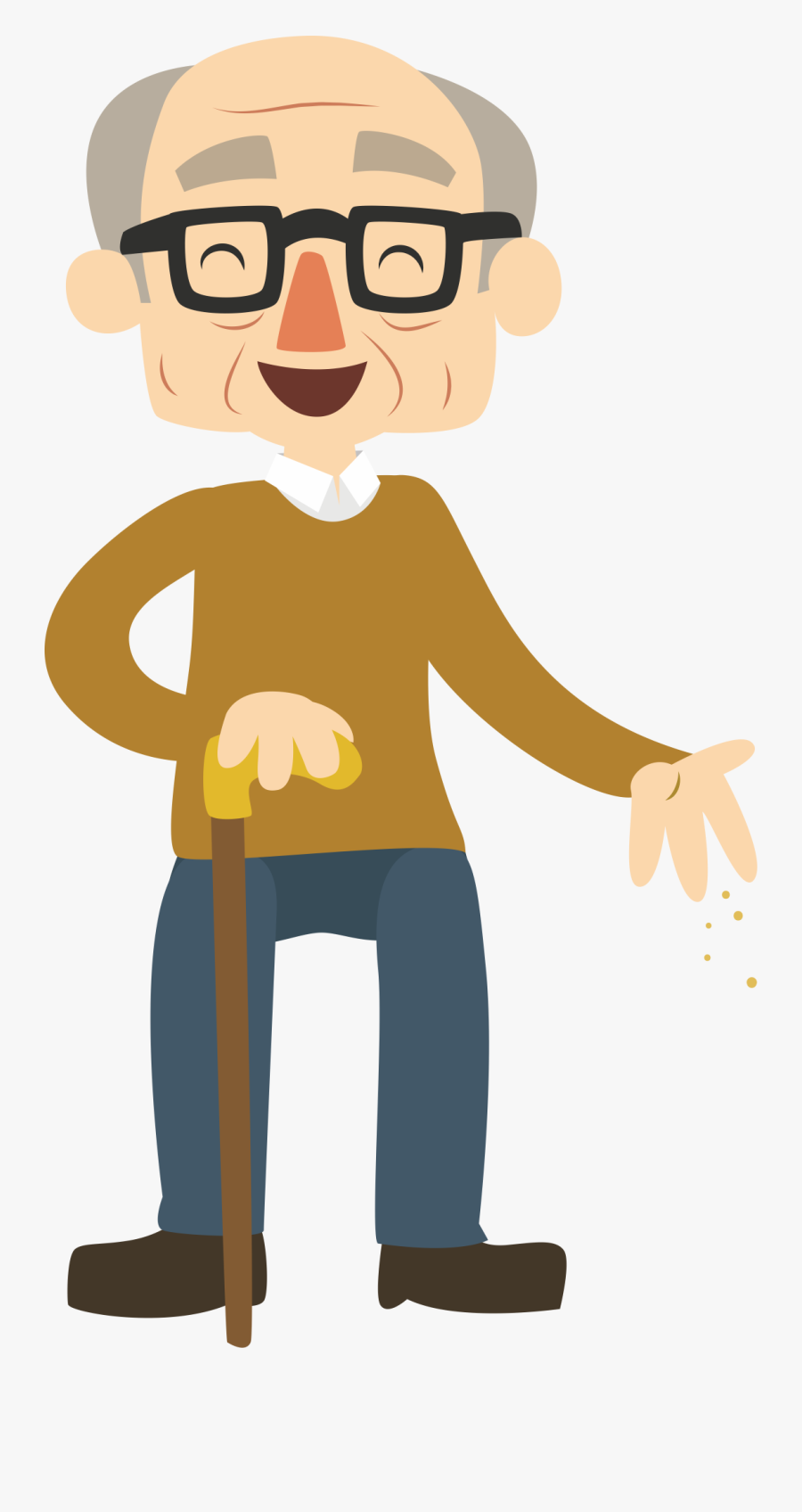 Cartoon Age La Grande - Happy Old Man Cartoon, Transparent Clipart