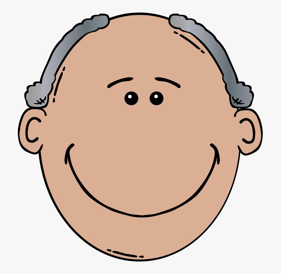 Old Man Svg Clip Arts - Old Man Face Clip Art, Transparent Clipart