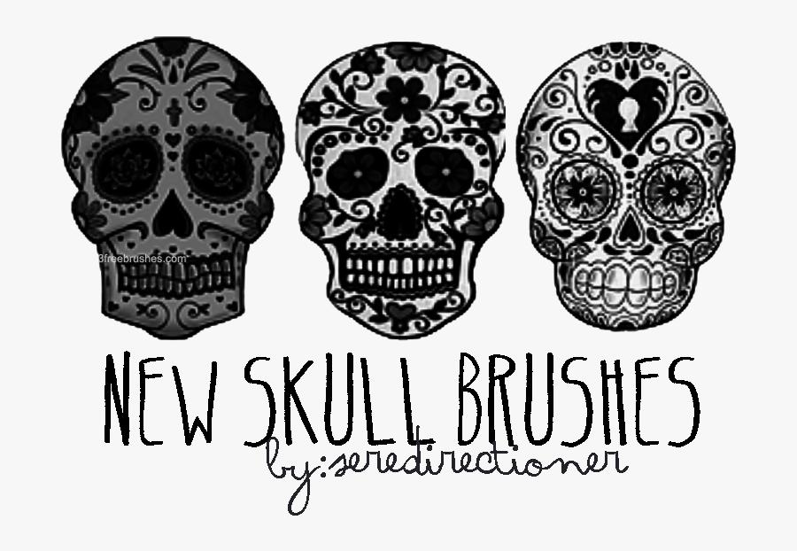 Photoshop Brushes Free Freebrushes - Skull Photoshop Brushes, Transparent Clipart