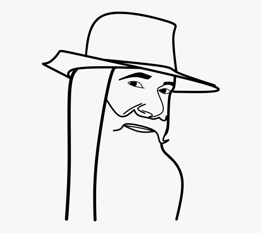 Old Man Man Vector Clipart Sticker Sketch Sketsa