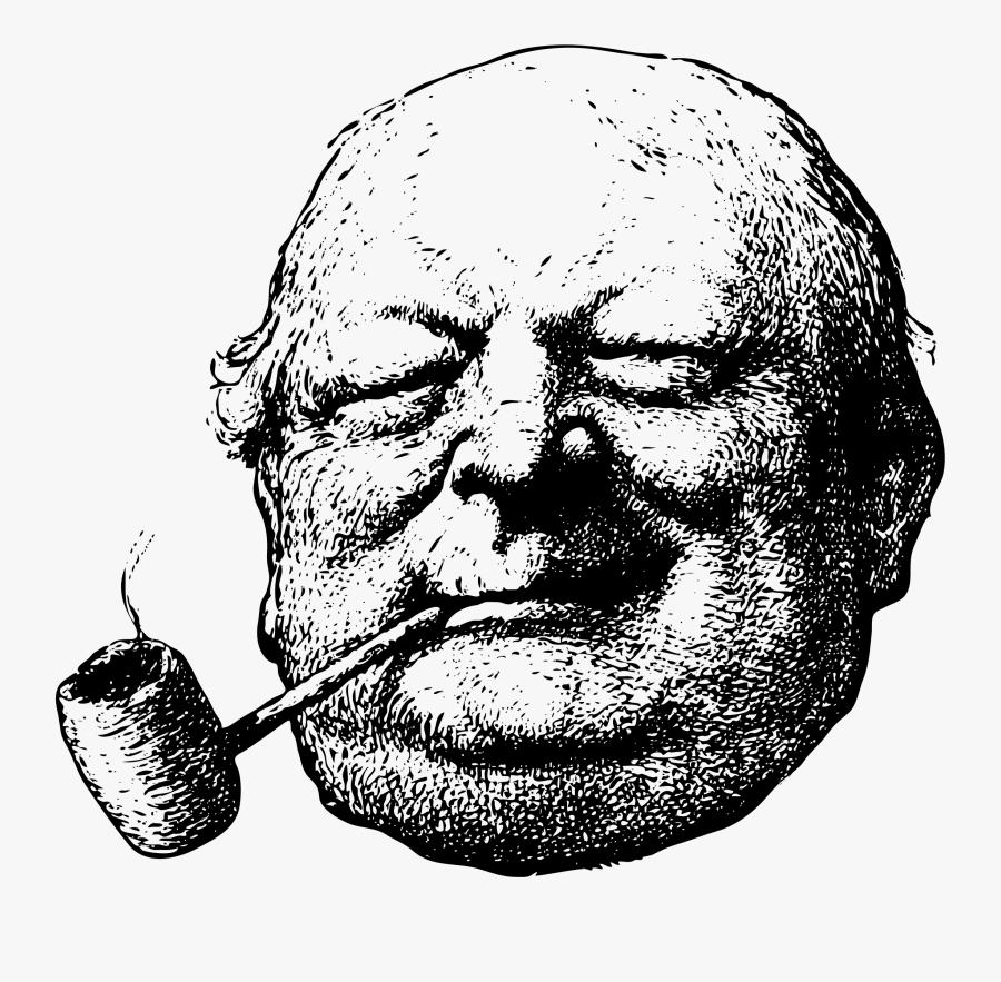 Old Man Smoking Pipe Cartoon, Transparent Clipart