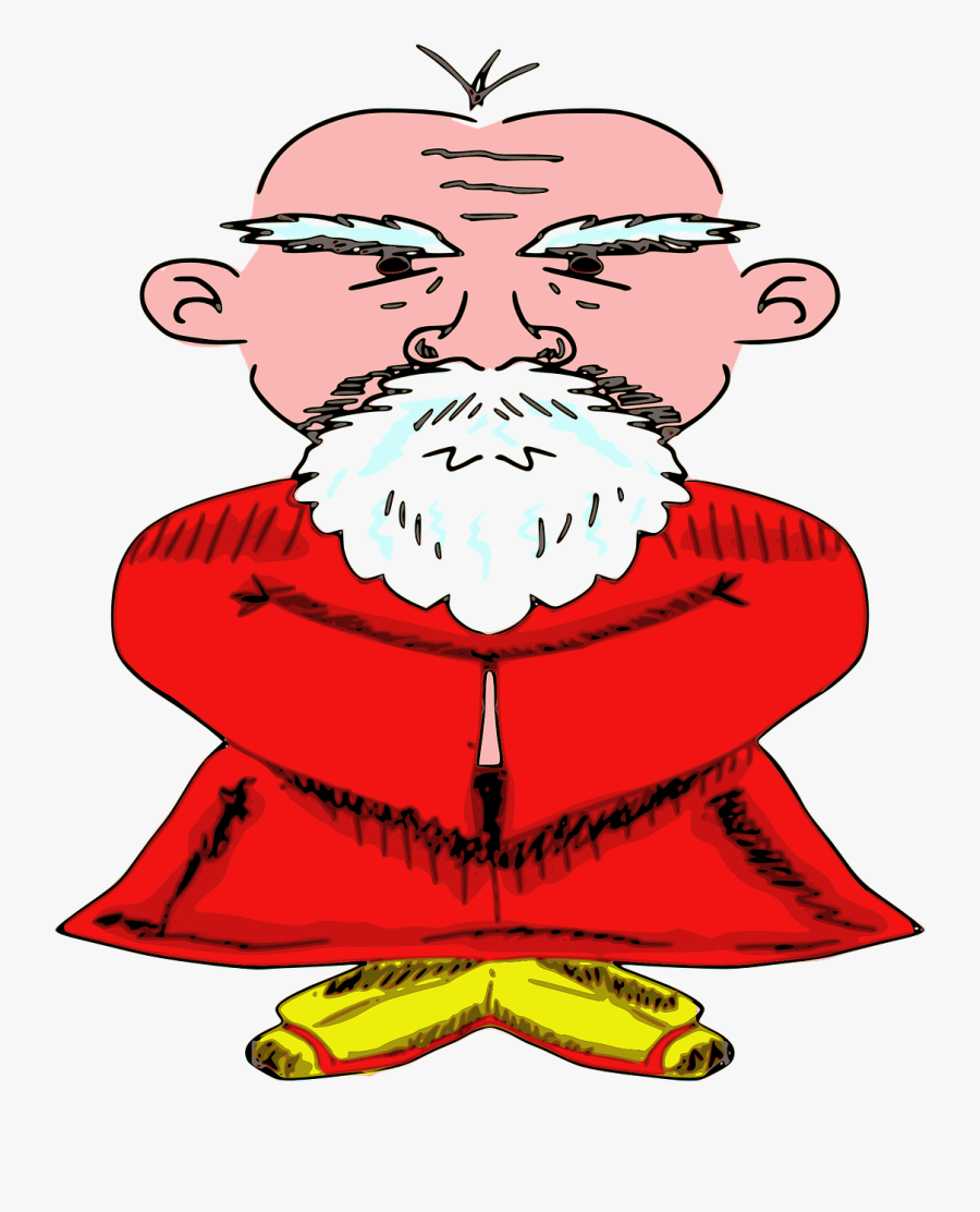 Old Chinese Man Transparent, Transparent Clipart