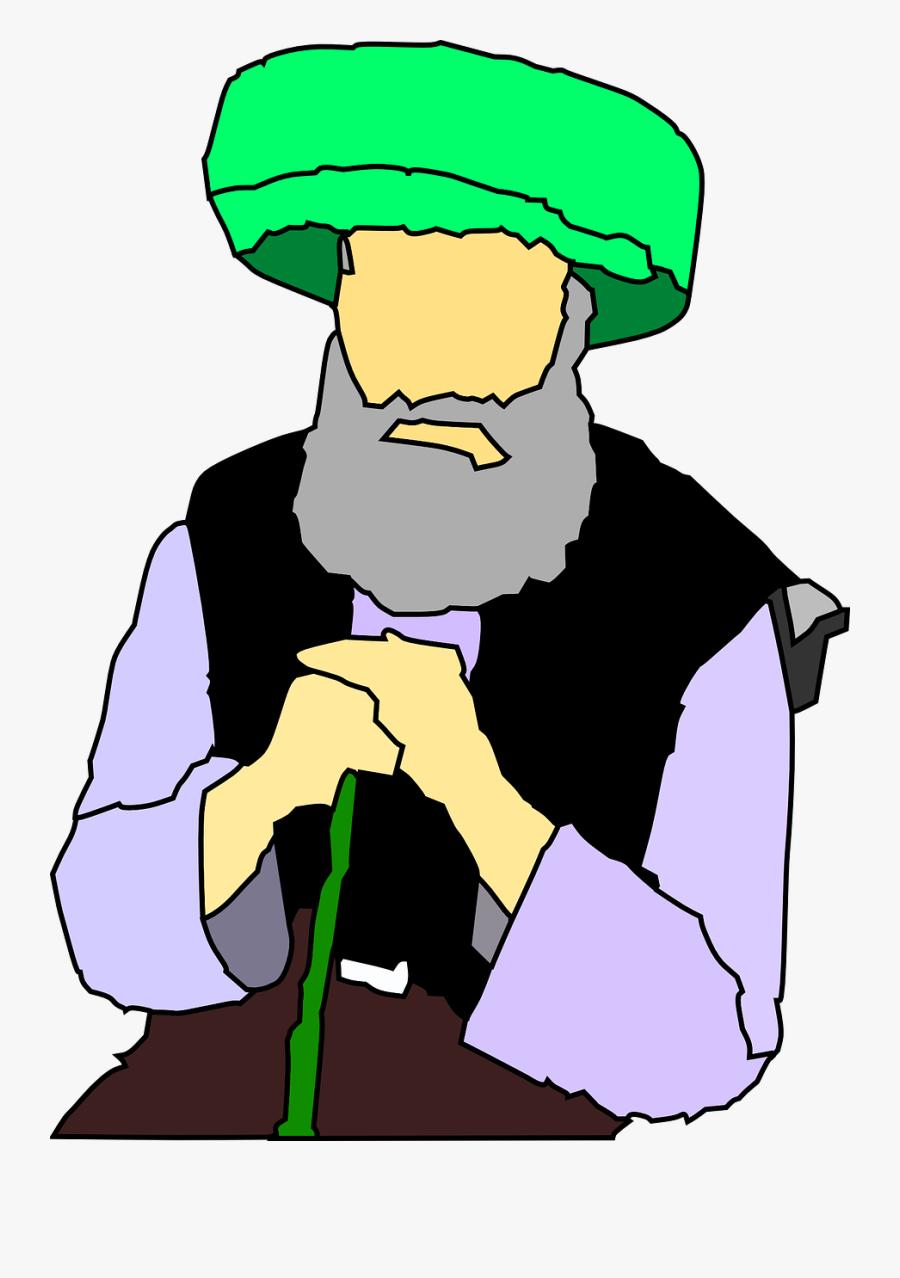Arabian Clipart Orang - Old Muslim Man Png, Transparent Clipart
