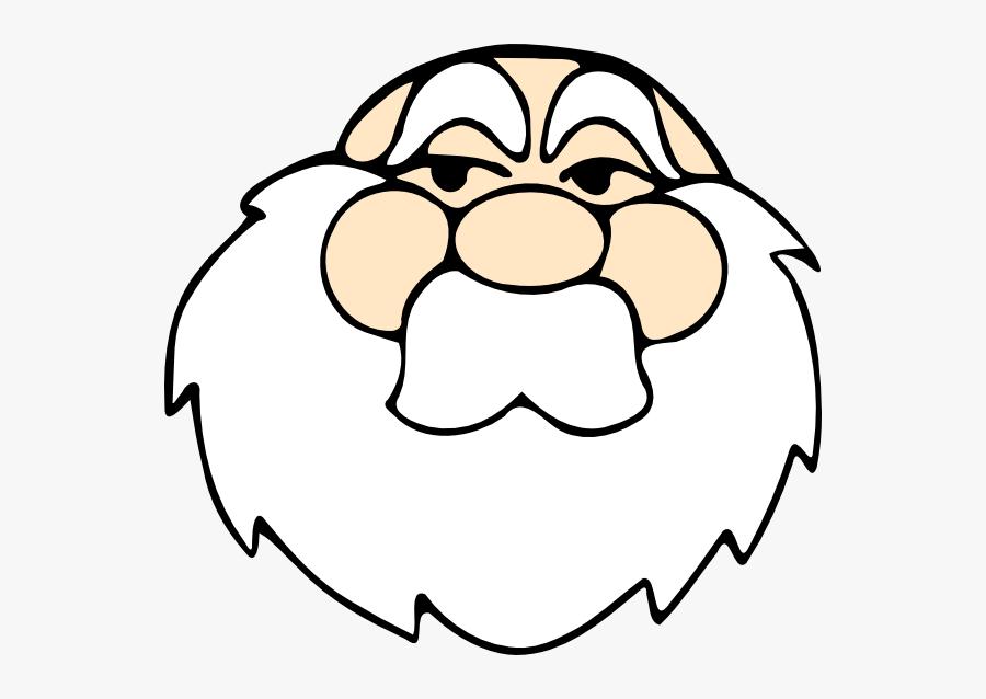 Old Man Pic Svg Clip Arts - Santa Face Without Hat, Transparent Clipart