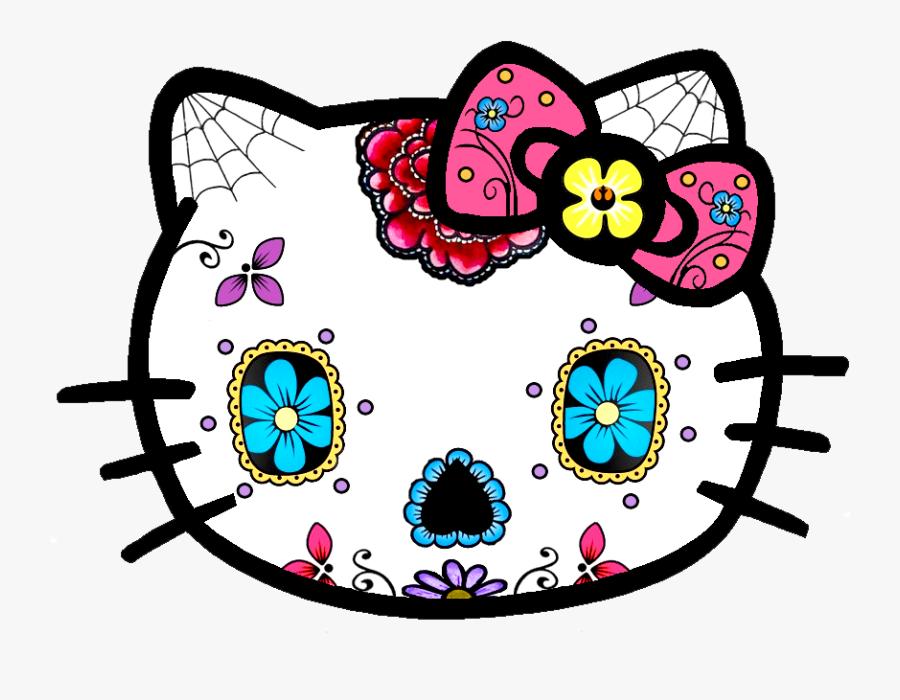 Hello Kitty Sugar Skull, Transparent Clipart