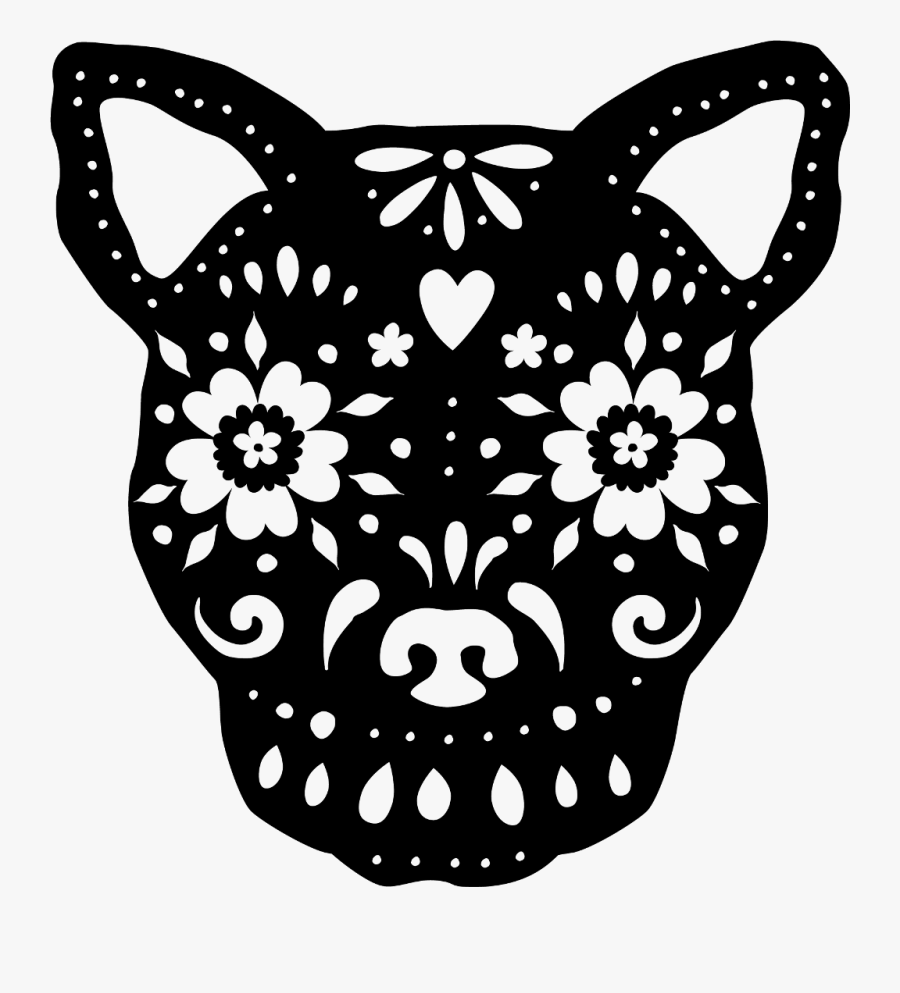 Transparent Sugar Skull Clipart Black And White, Transparent Clipart