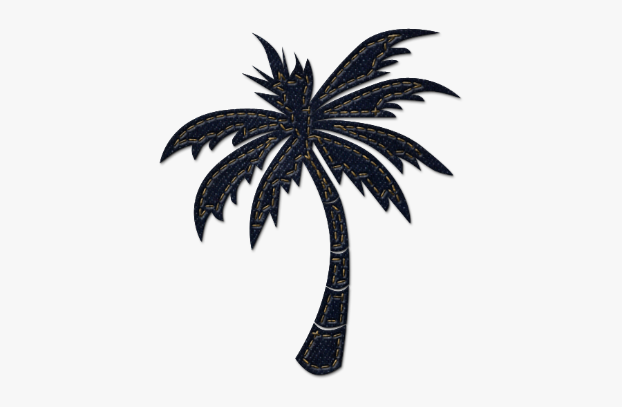 Palm Tree Clipart White Background - Palm Tree Clipart, Transparent Clipart