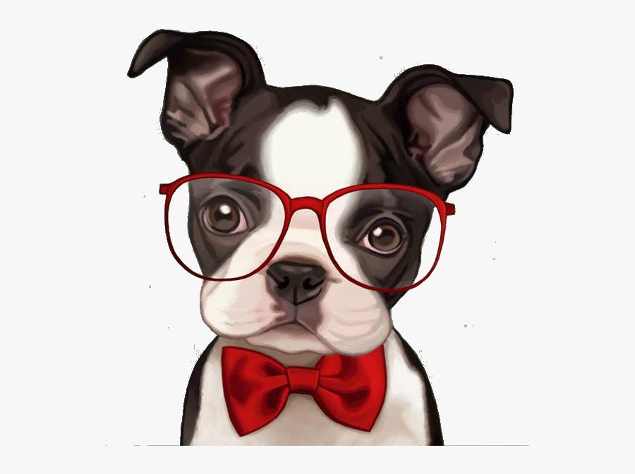 Bulldog Boston Pug French American Retro Party Clipart - De Cachorros Em Desenho, Transparent Clipart