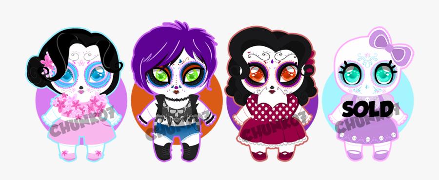 Clipart Skull Candy Skull - Cute Sugar Skull Chibi, Transparent Clipart