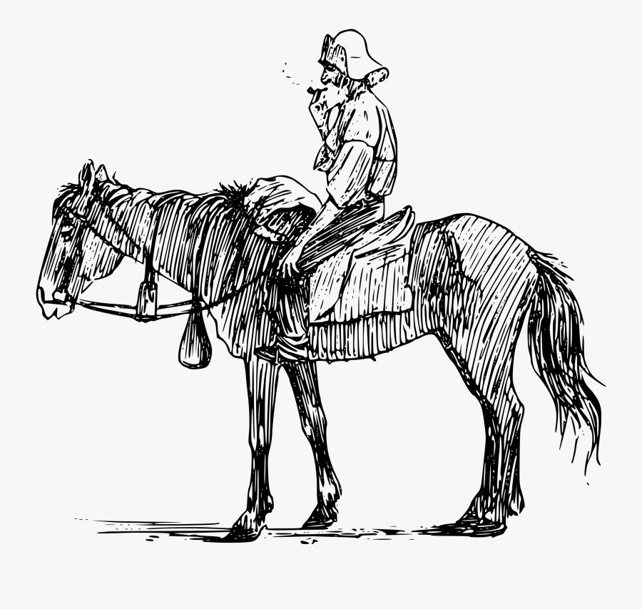 Old Man On Horseback Clip Arts - Man On Horseback Drawing, Transparent Clipart