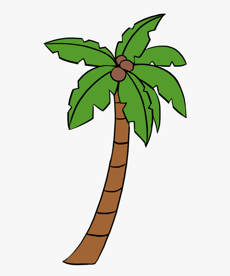 Free Palm Tree Drawing, Download Free Clip Art, Free - Cartoon Palm Tree Drawing, Transparent Clipart