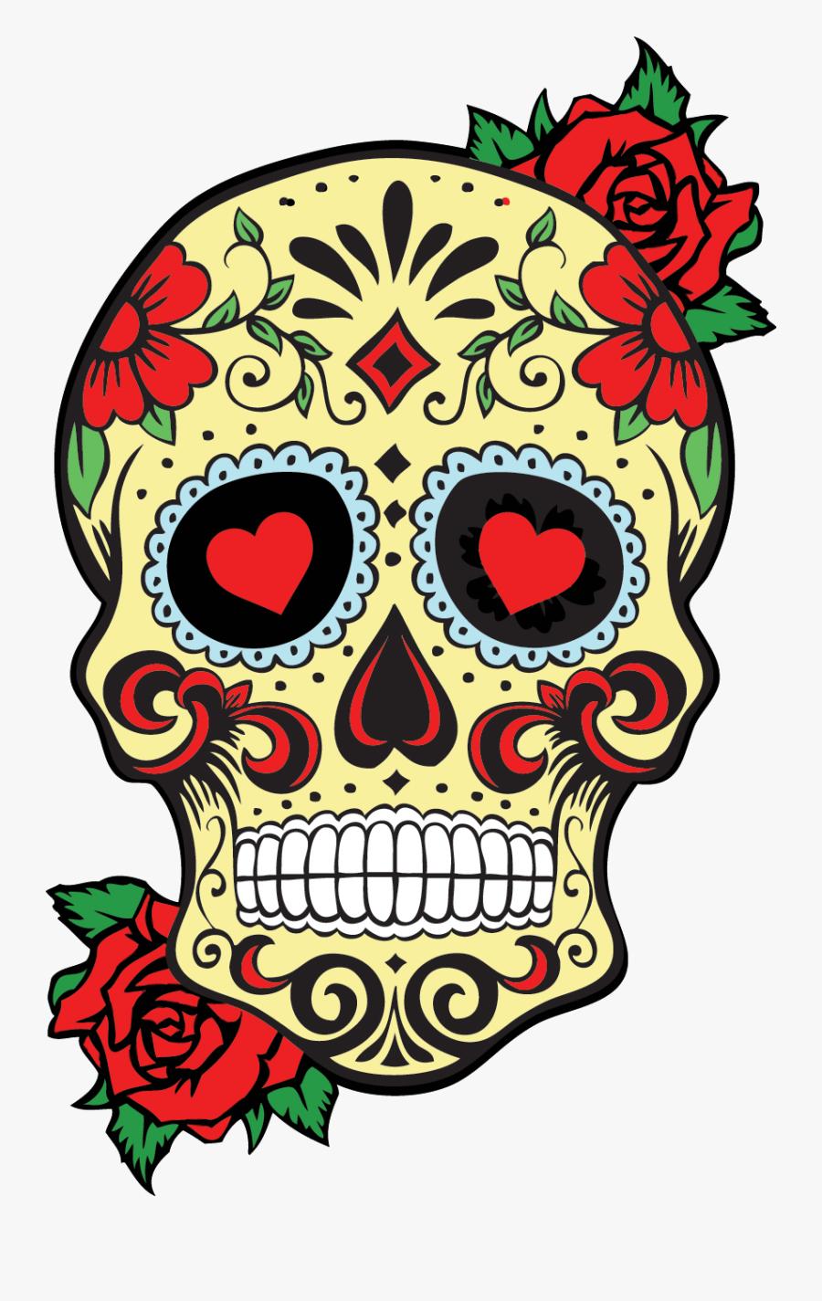 Calavera Sugar Skull Drawing, Transparent Clipart
