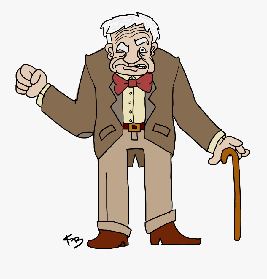 Old Man Transparent Background Png - Grumpy Old Man Drawing, Transparent Clipart