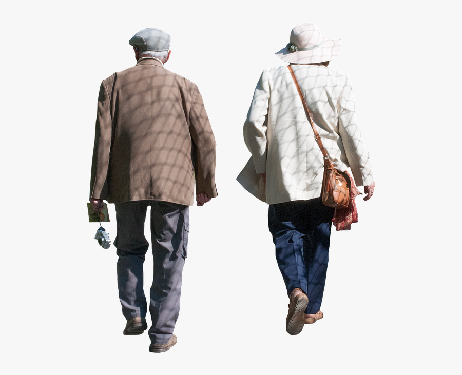 Elderly Images - Old People Walking Png, Transparent Clipart