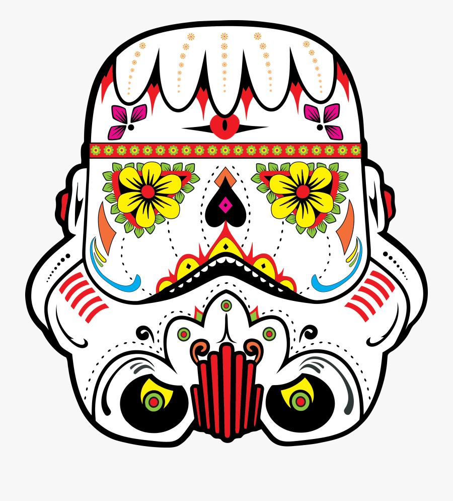 Sugar Skull Star Wars, Transparent Clipart