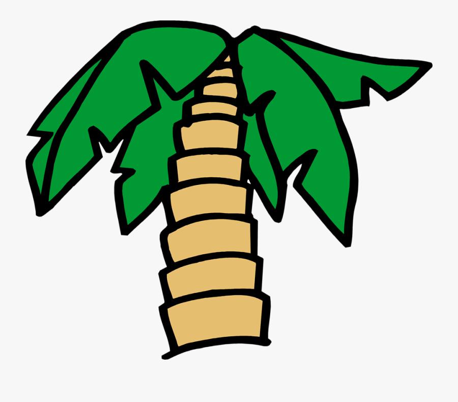 Palm Tree - Palm Tree Cartoon Image Transparent, Transparent Clipart
