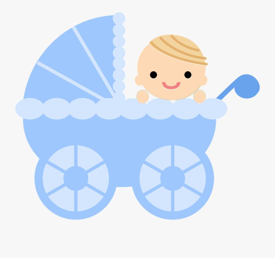 Bebê - Blue Baby Crib Clipart, Transparent Clipart
