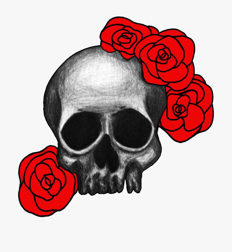 Skull And Roses Drawing At Getdrawings - Skulls And Roses Transparent, Transparent Clipart