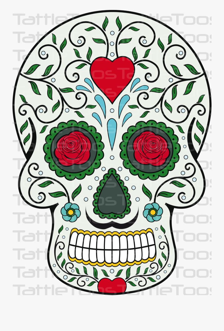 Transparent Day Of The Dead Clipart - Calavera Megico Png, Transparent Clipart