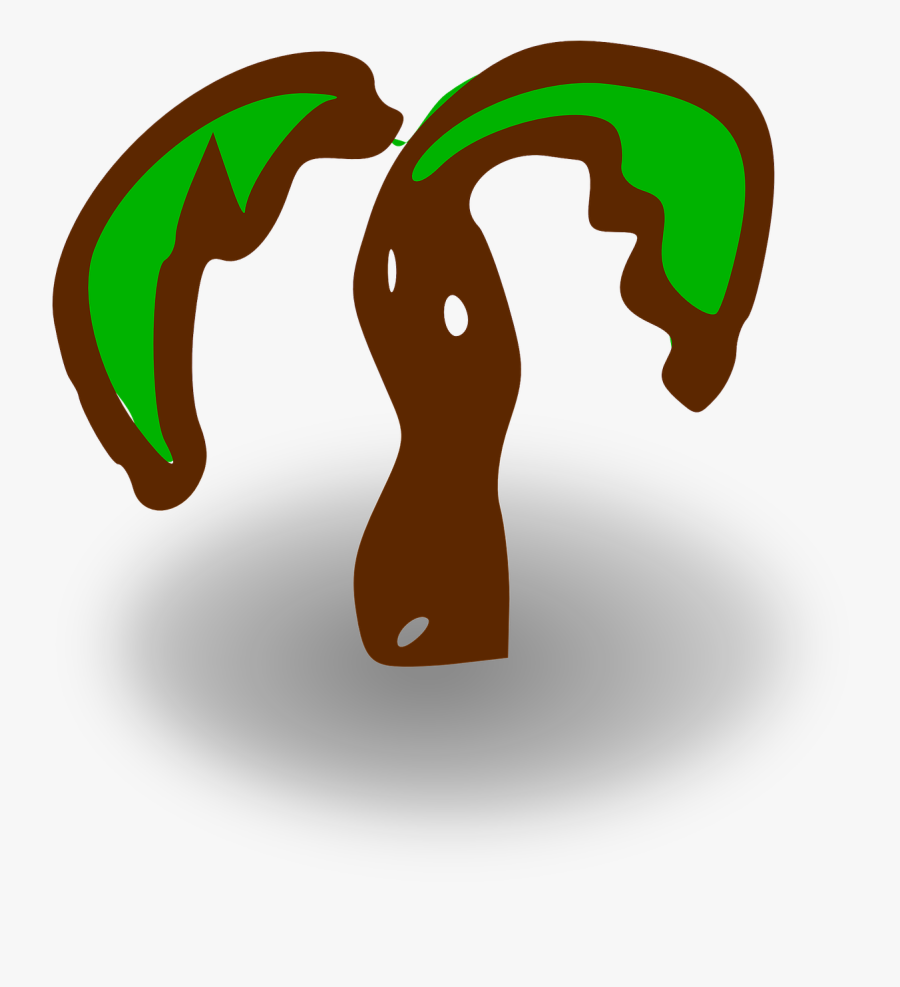 Rpg Map Symbols - Palm Tree Clip Art, Transparent Clipart