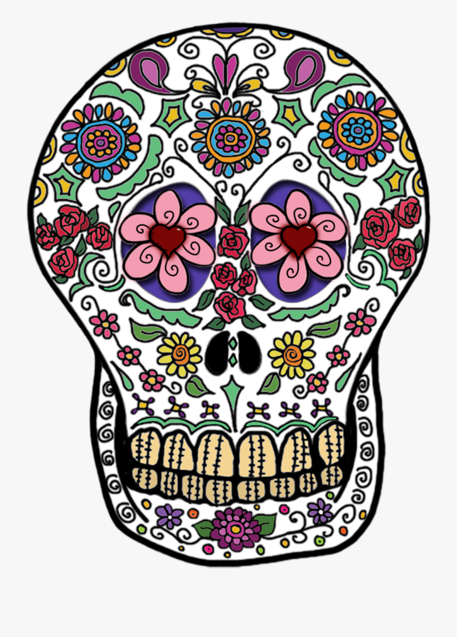 Day Of Dead Transparent Png Pictures - Day Of The Dead Skull Png, Transparent Clipart