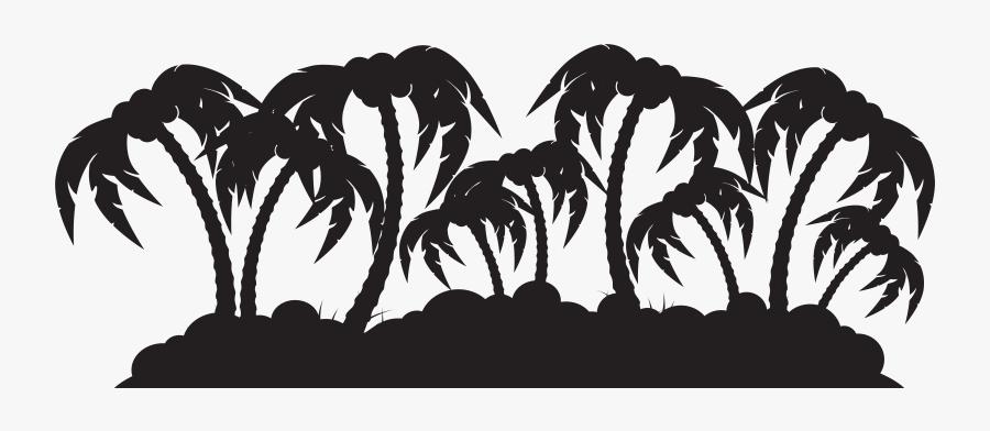 Palm Island Silhouette Png Clip Art Imageu200b Gallery - Palm Tree Island Clipart Silhouette Png, Transparent Clipart