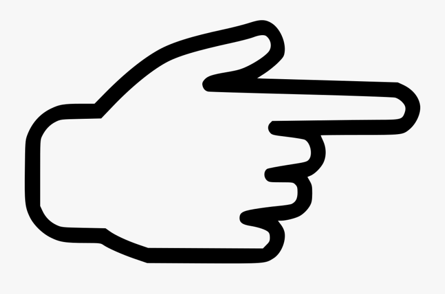 Transparent Finger Clipart - Pointing Finger Icon Free, Transparent Clipart