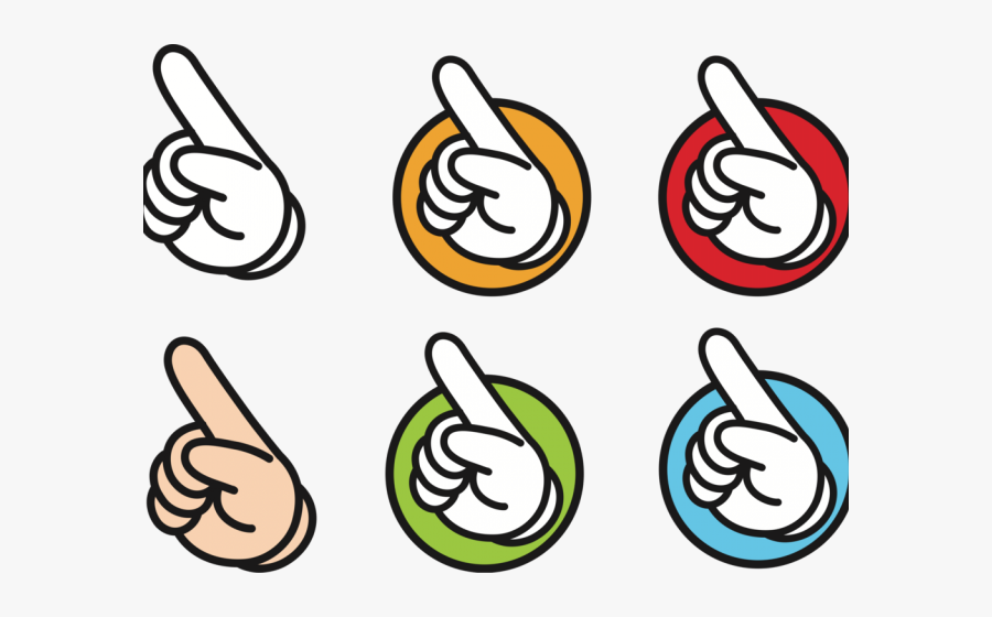 Fingerprint Clipart Hand - Finger Point Clipart Hand, Transparent Clipart