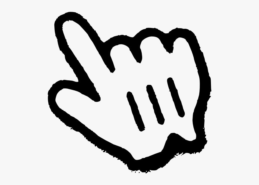Pointer Finger Clipart - Pointing Finger Cursor Clip Art, Transparent Clipart