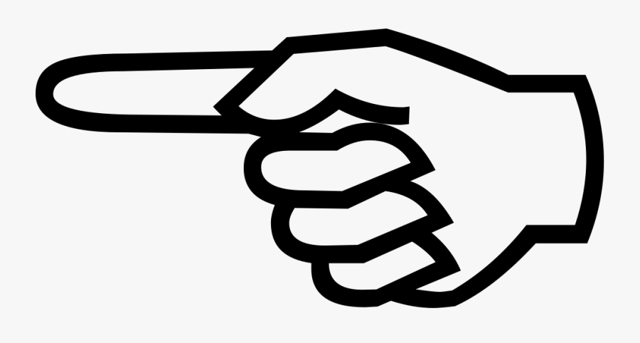 Transparent Pointing Clipart - Finger Pointing Left, Transparent Clipart