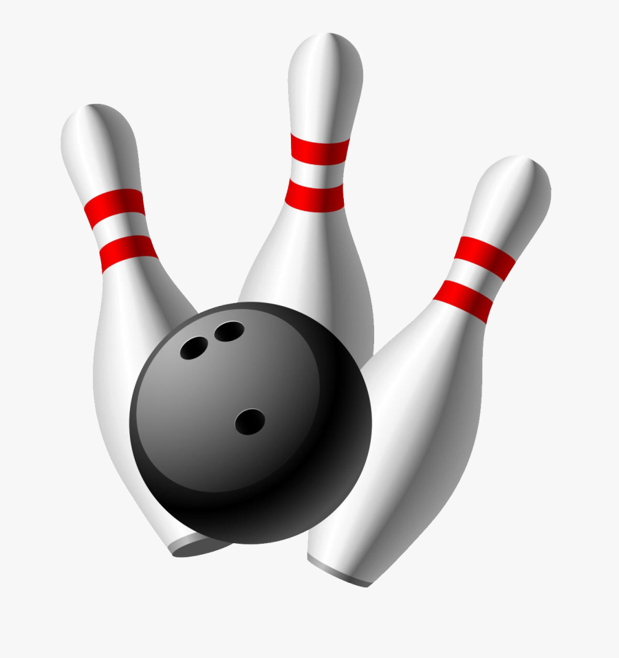 Bowling Png - Transparent Background Bowling Ball And Pins, Transparent Clipart