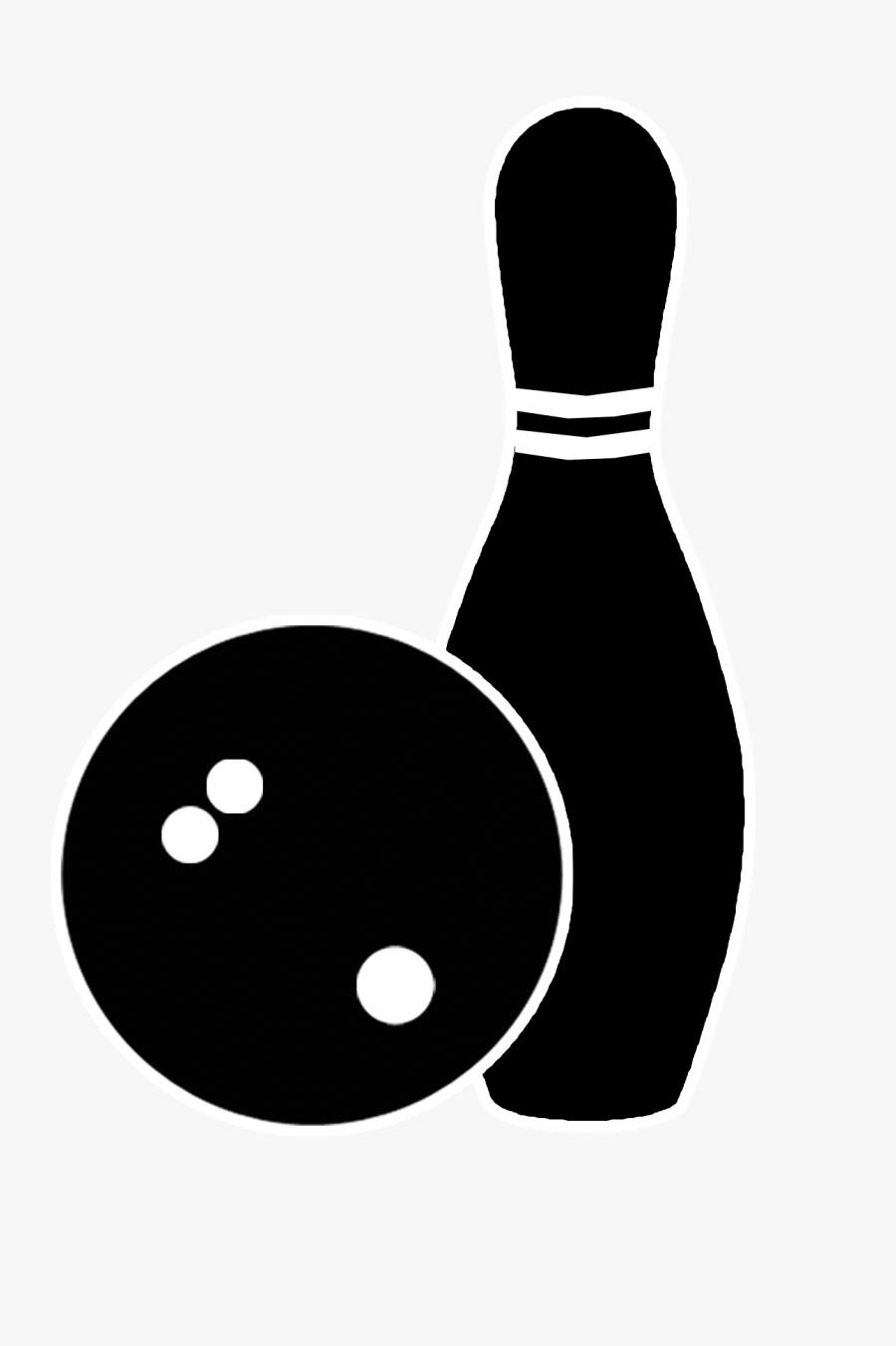 Transparent Bowling Clipart - Black Bowling Pins Png, Transparent Clipart