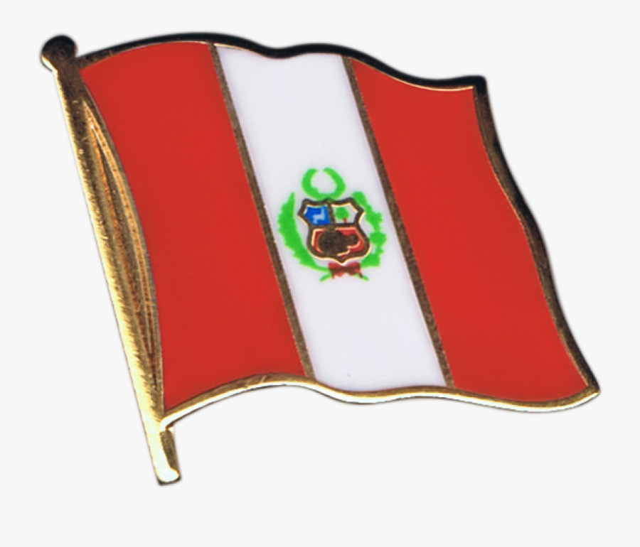 Peru Flag Pin, Badge - Easy Mexican Flag Drawing, Transparent Clipart