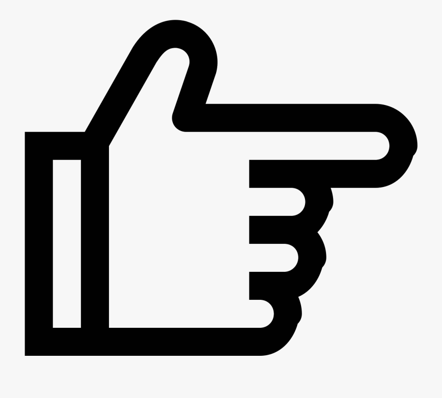 Hand Right Icon - Right Hand Icon Transparent, Transparent Clipart