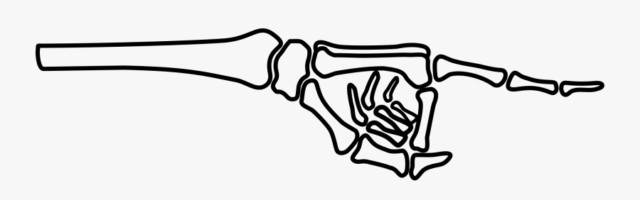 Skeleton Hand Pointing Clipart, Transparent Clipart