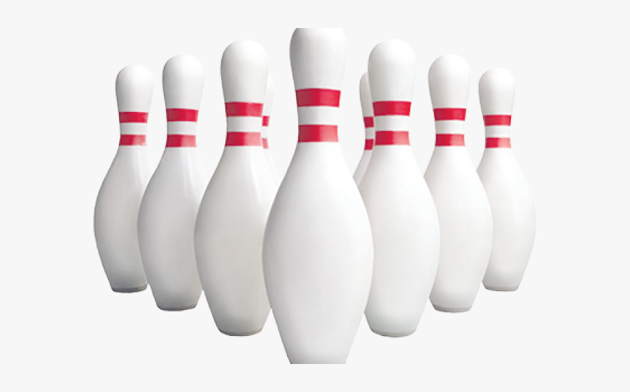 Bowling Pins, Transparent Clipart