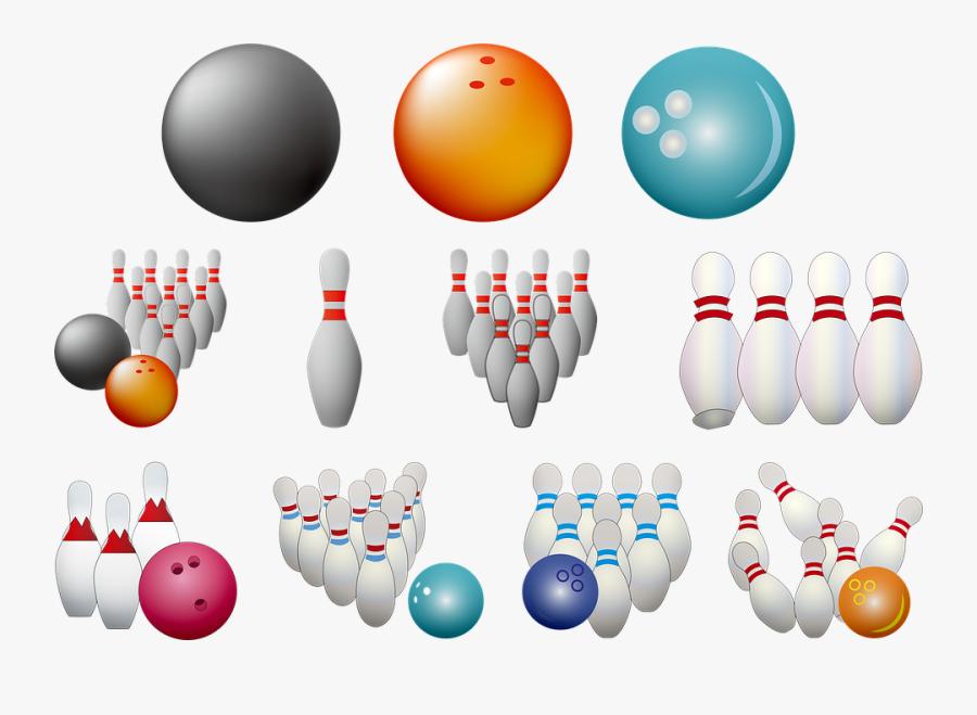 Transparent Bowling Pin Png - Ten-pin Bowling, Transparent Clipart