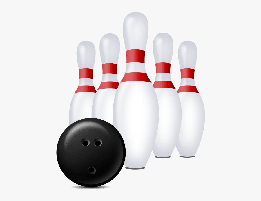 Bowling Pin & Ball, Transparent Clipart