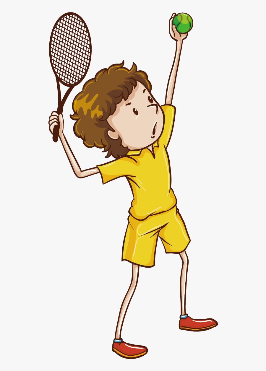 Play Royalty-free Clip Art - Dibujo Jugadores De Tenis, Transparent Clipart