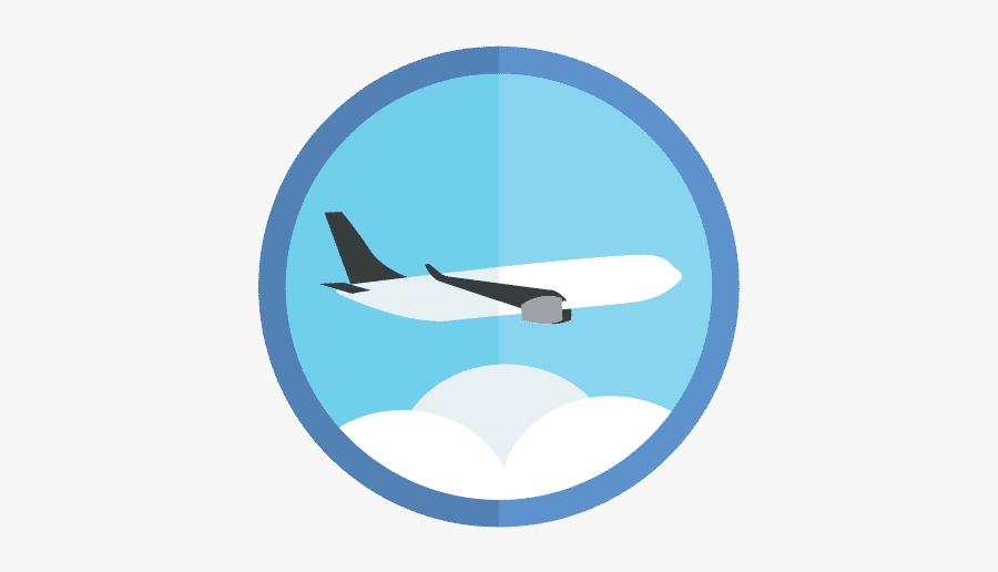 Gar Traveler Badge - Wide-body Aircraft, Transparent Clipart