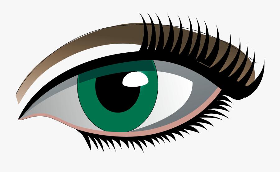 Eyelash Clipart Simple Eye - Картинка Глаз На Прозрачном Фоне, Transparent Clipart