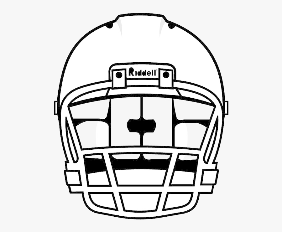 Football Helmet Nfl Front Free Clipart Images Transparent - Football Helmet Drawing Front View, Transparent Clipart