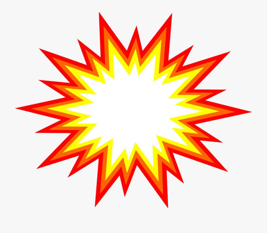 Explosion Clip Art Png - Cartoon Explosion Transparent Background, Transparent Clipart
