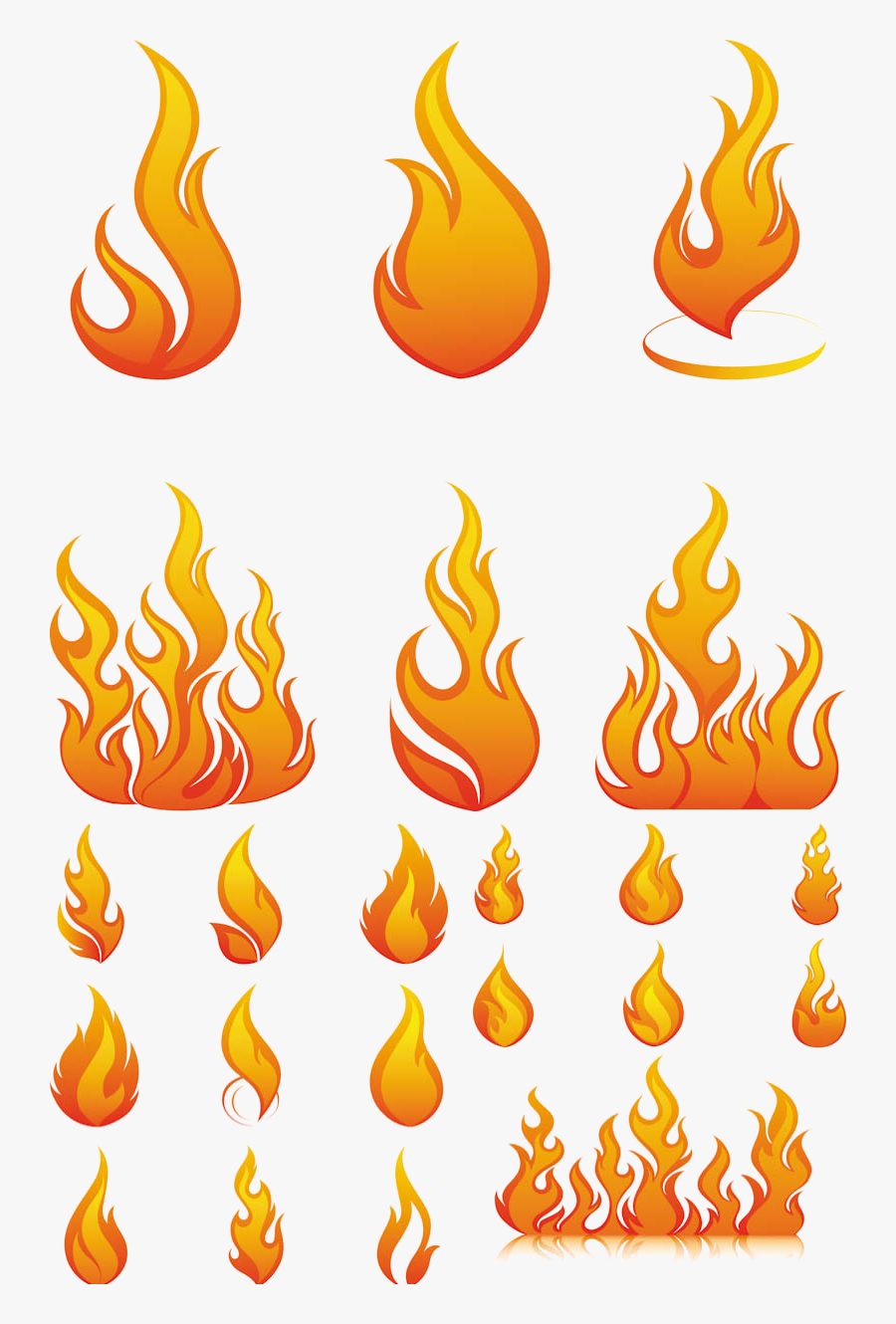 Flame Free Flames Or Fire Clipart And Cliparts For - Fire Flames Vector, Transparent Clipart