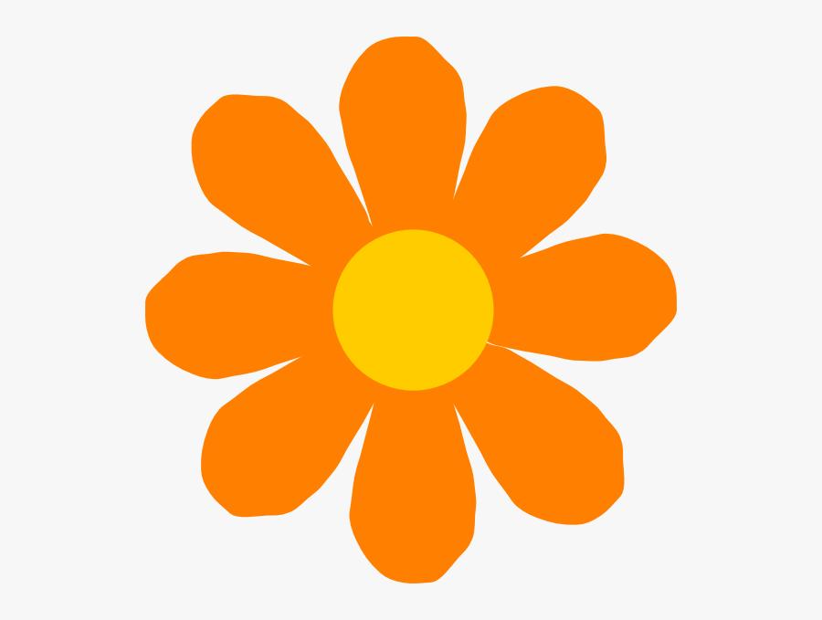 Orange Flower Clip Art - Orange Flower Clipart Png, Transparent Clipart