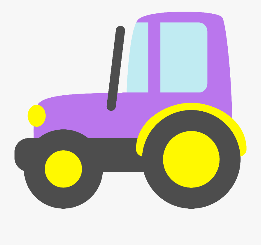 Transparent John Deere Tractors Clipart - Purple Tractor Clip Art, Transparent Clipart
