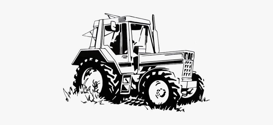 Tug Tractors Agriculture Desenho Preto E Branco Trator Free
