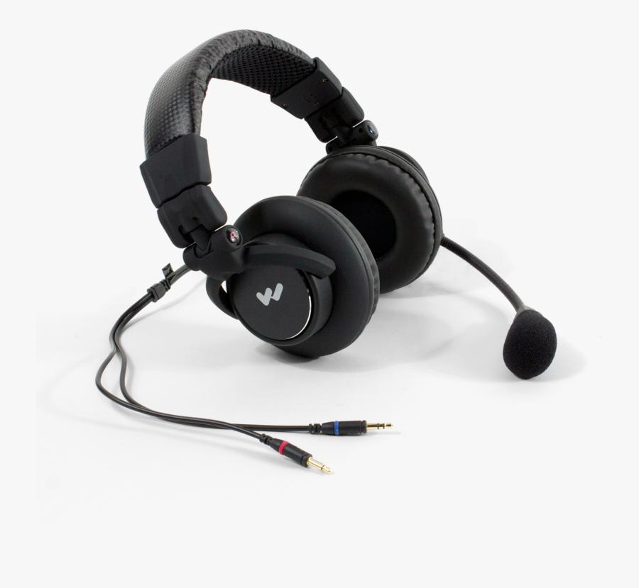 Headphone Transparent Mic - Trs Microphone Headset, Transparent Clipart